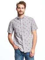 Old Navy Slim-Fit Classic Striped Shirt For Men