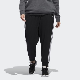 adidas Essentials 3-Stripes Single Jersey Pants (Plus Size)