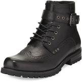 Joe's Jeans Slops Buckle Wing-Tip Boot, Black