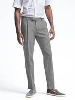 Banana Republic Slim Heritage Gray Wool Linen Suit Trouser
