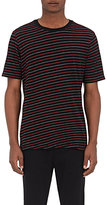 Rag & Bone Men's Colin Striped Jersey T-Shirt-BLACK