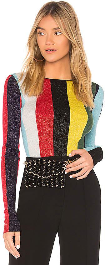 Diane von Furstenberg Crewneck Metallic Pullover