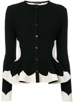 Alexander McQueen peplum cardigan - women - Polyamide/Polyester/Spandex/Elastane/Viscose - S