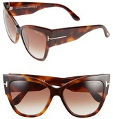Tom Ford Women's 'Anoushka' 57Mm Gradient Sunglasses - Black/ Pink Lapo