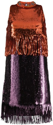 Pinko Colour Block Sequinned Dress