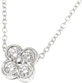 Tiffany & Co. Platinum Bezel Set Flower Diamond Necklace