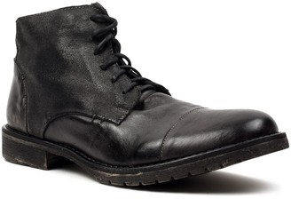 Bed Stu Men's Leather Cap-Toe Lace-Up Work Boots - Hoover II