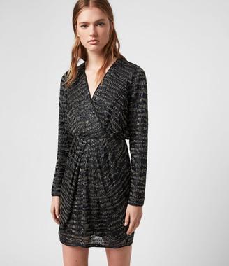 AllSaints Laney Embellished Dress