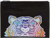 Kenzo Black Limited Edition Embroidered Tiger Pouch
