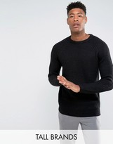 D-Struct TALL Chunky Ribbed Crew Neck Sweater