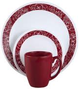 Corelle Livingware Bandhani 16 Piece Dinnerware Set, Service for 4