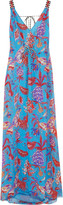 Matthew Williamson Pineapple Paisley silk-mousseline maxi dress
