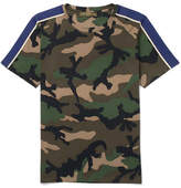 Valentino Slim-fit Camouflage-print Cotton-jersey T-shirt - Army green