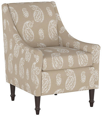 One Kings Lane Holmes Accent Chair - Tan Paisley
