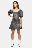 Topshop Womens Petite Boucle Effect Mini Jersey Dress - Navy Blue