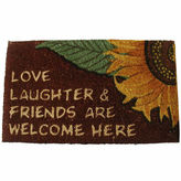 Asstd National Brand Love & Laughter Rectangle Doormat