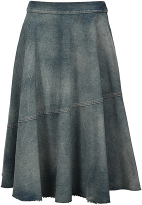 MM6 MAISON MARGIELA Mm6 Pleated Denim Skirt