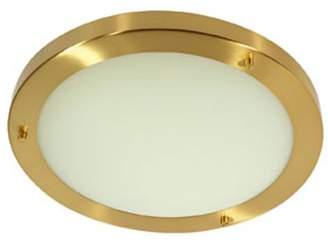 Rondo Bathroom Ceiling Fitting Satin Brass Finish