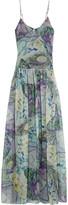 Matthew Williamson Printed silk-voile maxi dress