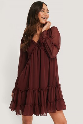 Trendyol Sheer Ruffle Mini Dress
