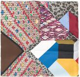 Pierre Louis Mascia Pierre-Louis Mascia embroidered multi-patch scarf
