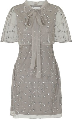 Frock and Frill Imari Embellished Cape Dress
