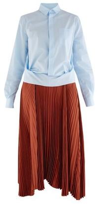 Plan C Two fabric shirt dress