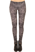 McQ Crocodile Print Leggings