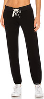Monrow Supersoft Lace Up Sweats in Black. - size L (also in S,XS)