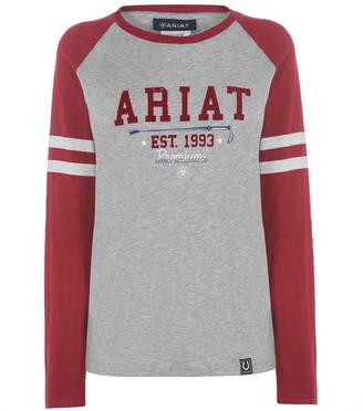 Ariat Logo Flock T Shirt Ladies