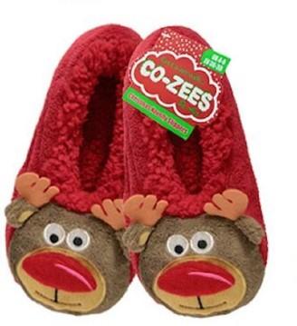 Adam & Eesa Assorted Womens Co-Zees Christmas Slippers Sherpa Fleece Lined Ballerina Slipper Socks - 13 Designs