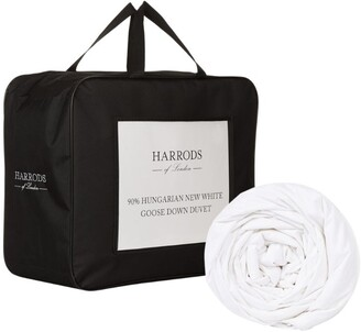 Harrods Single 90% Hungarian New White Goose Down Duvet (9 Tog)