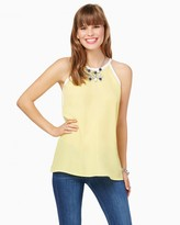 Charming charlie Tiffany Tipped Tank