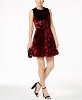 Rachel Roy Velvet Fit & Flare Dress