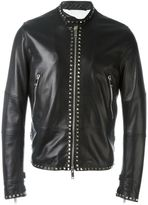 Valentino 'Rockstud' jacket - men - Cotton/Lamb Skin/Lyocell/Metal (Other) - 48