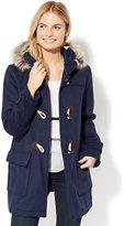 New York & Co. Faux-Fur Wool-Blend Toggle Coat