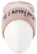 Charlotte Russe Not A Morning Person Knit Beanie