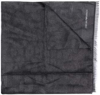 Emporio Armani two tone scarf