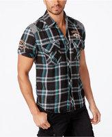 Affliction Men's Patch Plaid Shirt