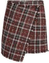 Morgan Checked Tweed Effect Skirt