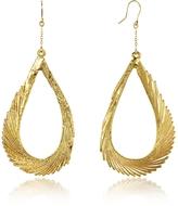 Aurelie Bidermann Gold Swan Feather Earrings