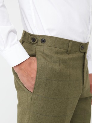 Skopes Tailored Moonen Trousers - Olive Check