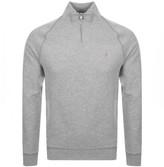 Farah Jim Half Zip Sweatshirt Grey
