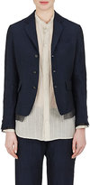 Pas De Calais Women's Linen-Blend Three-Button Crop Jacket
