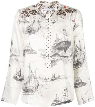 La Prestic Ouiston mandarin collar shirt