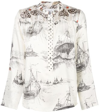 La Prestic Ouiston Mandarin Collar Shirt