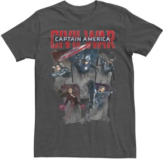 Marvel Men's Captain America Civil War Group Shot Graphic Tee