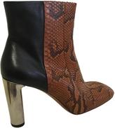 Celine Python ankle boots