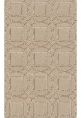 George Oliver Adler Hand-Tufted Khaki/Wheat Area Rug George Oliver Rug Size: Rectangle 5' x 7'6""