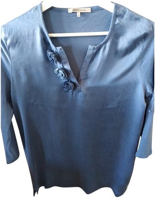 Gerard Darel Blue Cotton Top for Women